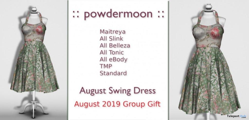 Swing Dress August 2019 Group Gift by powdermoon- Teleport Hub - teleporthub.com
