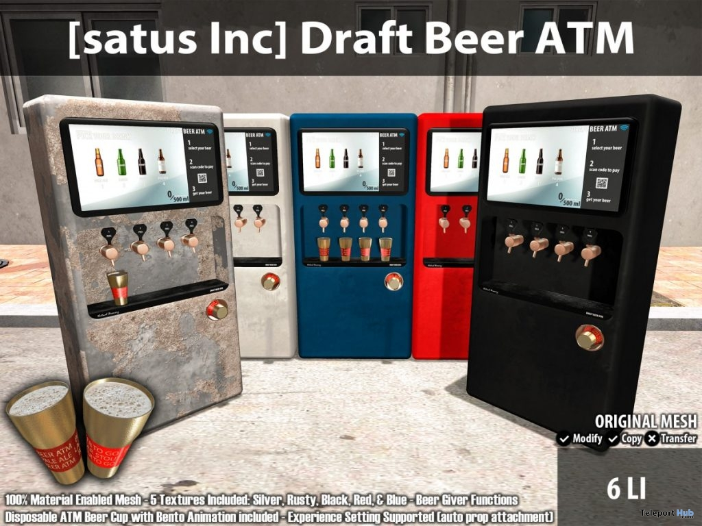 New Release: Draft Beer ATM by [satus Inc] - Teleport Hub - teleporthub.com