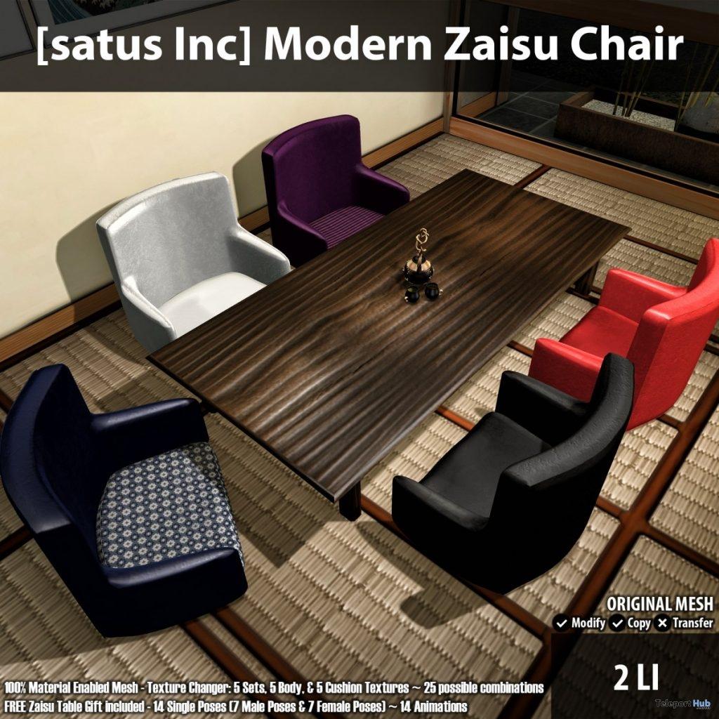 New Release: Modern Zaisu Chair by [satus Inc]- Teleport Hub - teleporthub.com