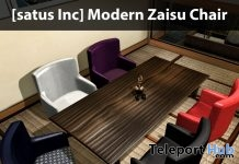New Release: Modern Zaisu Chair by [satus Inc] - Teleport Hub - teleporthub.com