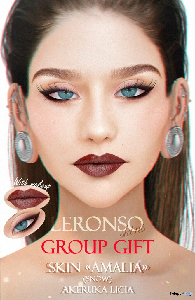 Amalia Skin Snow Tone For AKERUKA Licia September 2019 Group Gift by LERONSO skins- Teleport Hub - teleporthub.com