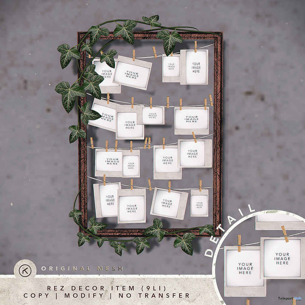 Ivy Polaroid Frame September 2019 Group Gift by kotte- Teleport Hub - teleporthub.com