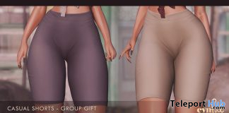 Casual Shorts September 2019 Group Gift by [Cynful] Clothing & Co. - Teleport Hub - teleporthub.com