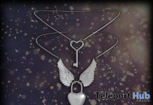 Heart Lock Necklace September 2019 Group Gift by Clavis - Teleport Hub - teleporthub.com