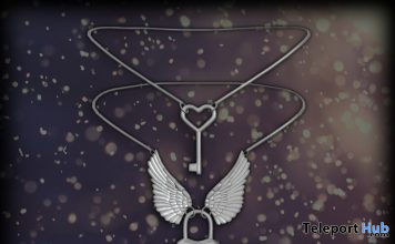 Heart Lock Necklace September 2019 Group Gift by Clavis- Teleport Hub - teleporthub.com