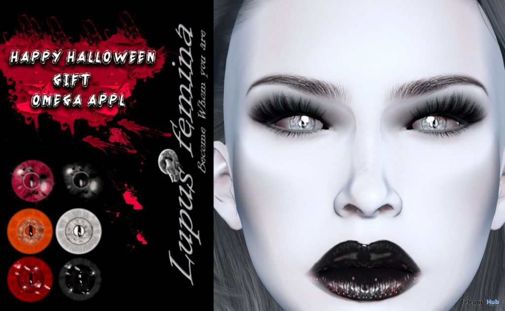 Creepy Halloween Eyes Omega Applier September 2019 Group Gift by Lupus Femina- Teleport Hub - teleporthub.com