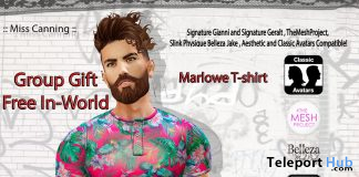 Marlowe T-Shirt September 2019 Group Gift by Miss Canning - Teleport Hub - teleporthub.com