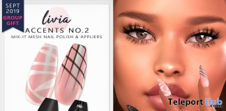 Accents No.2 Mix-It Polish & Appliers September 2019 Group Gift by LIVIA - Teleport Hub - teleporthub.com
