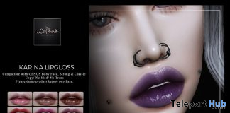 Karina Lipgloss For Genus Mesh Head September 2019 Group Gift by LePunk - Teleport Hub - teleporthub.com