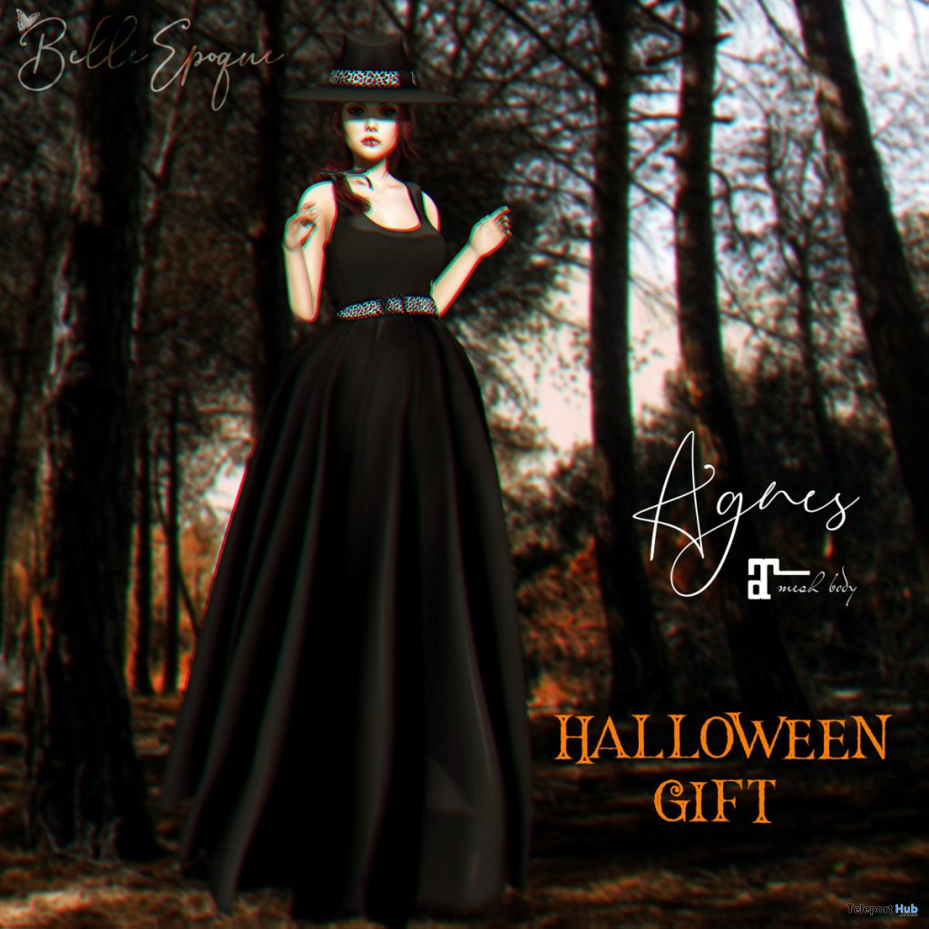 Agnes Dress Halloween 2019 Group Gift by Belle Epoque- Teleport Hub - teleporthub.com
