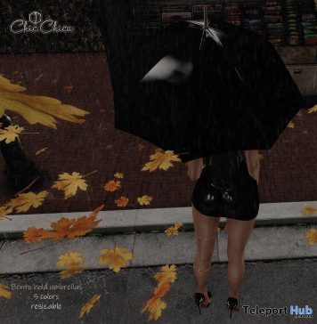 Umbrellas With Bento Poses September 2019 Gift by ChicChica- Teleport Hub - teleporthub.com