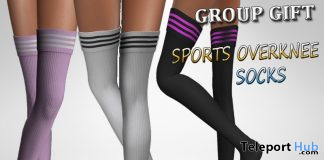 Sports Overknee Socks For Maitreya September 2019 Group Gift by Velvets Dreams - Teleport Hub - teleporthub.com