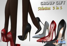 Latex Stilettos 3 In 1 September 2019 Group Gift by Velvets Dreams- Teleport Hub - teleporthub.com