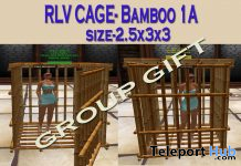 Mesh Bamboo RLV Cage 1A September 2019 Group Gift by Carissa Designs - Teleport Hub - teleporthub.com