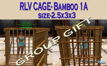 Mesh Bamboo RLV Cage 1A September 2019 Group Gift by Carissa Designs- Teleport Hub - teleporthub.com