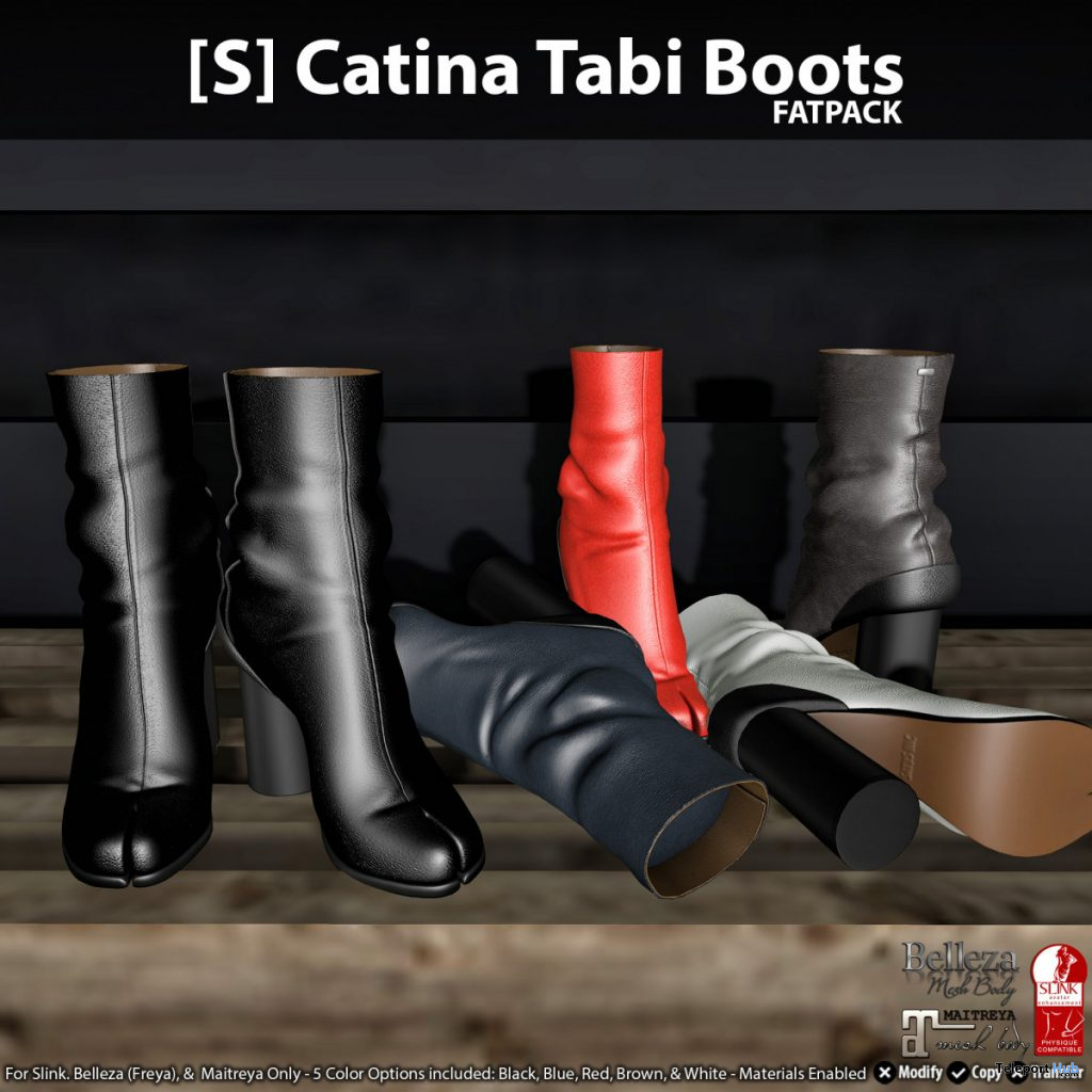New Release: [S] Catina Tabi Boots Fatpack by [satus Inc] - Teleport Hub - teleporthub.com