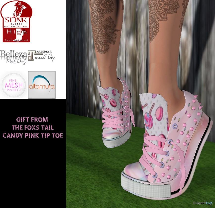 Candy Pink Tip Toe Shoes September 2019 Group Gift by The Fox's Tail - Teleport Hub - teleporthub.com