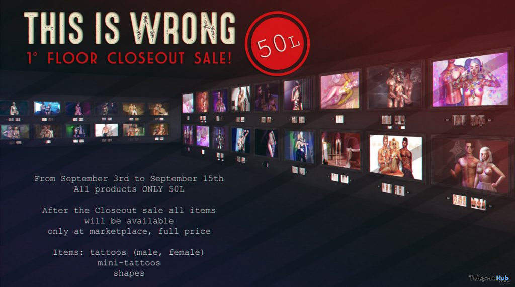 THIS IS WRONG 1st Floor Closeout Sale Event 2019- Teleport Hub - teleporthub.com