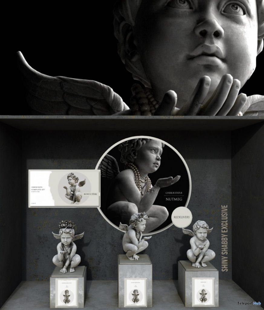 New Release: Cherub Statue by Nutmeg @ Shiny Shabby September 2019- Teleport Hub - teleporthub.com