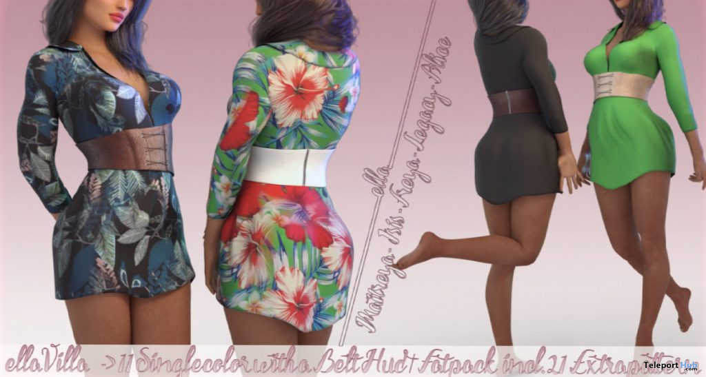 New Release: Villa Dress by ella @ Shiny Shabby September 2019- Teleport Hub - teleporthub.com