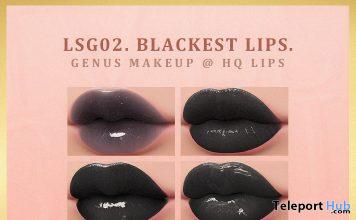 The Blackest Lipsticks For GENUS Mesh Head October 2019 Group Gift by IVES.- Teleport Hub - teleporthub.com