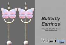 Butterfly Earrings 1L Promo Gift by Xuxu - Teleport Hub - teleporthub.com