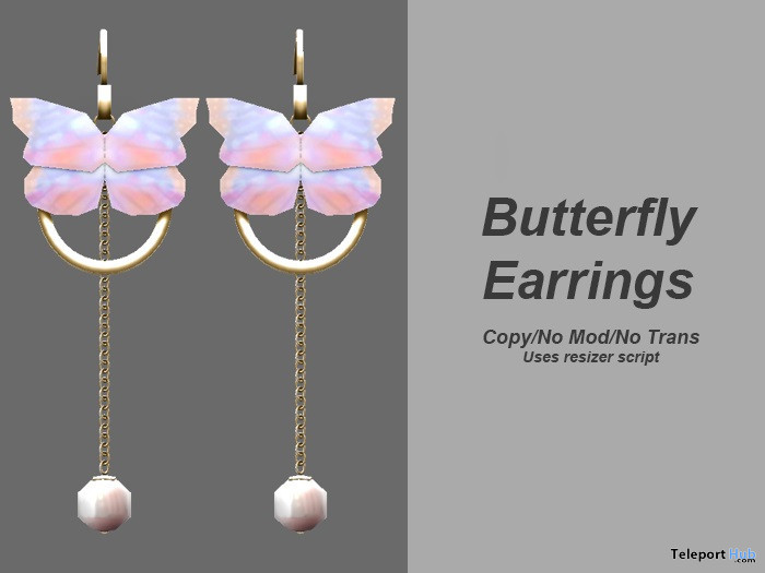 Butterfly Earrings 1L Promo Gift by Xuxu - Teleport Hub - teleporthub.com