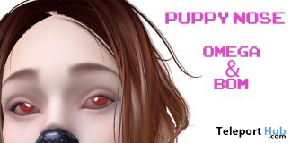 Omega & BOM Puppy Nose Appliers October 2019 Group Gift by !Orphic! - Teleport Hub - teleporthub.com