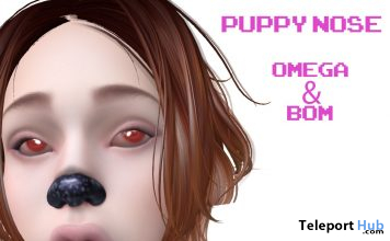 Omega & BOM Puppy Nose Appliers October 2019 Group Gift by !Orphic!- Teleport Hub - teleporthub.com
