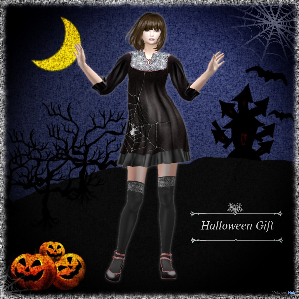 Halloween Dress October 2019 Group Gift by S@BBiA- Teleport Hub - teleporthub.com