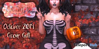 Skeleton Jumpsuit October 2019 Group Gift by ChicModa- Teleport Hub - teleporthub.com