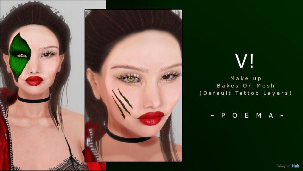 V! Face Tattoo 10L Promo by POEMA- Teleport Hub - teleporthub.com