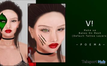 V! Face Tattoo 10L Promo by POEMA - Teleport Hub - teleporthub.com