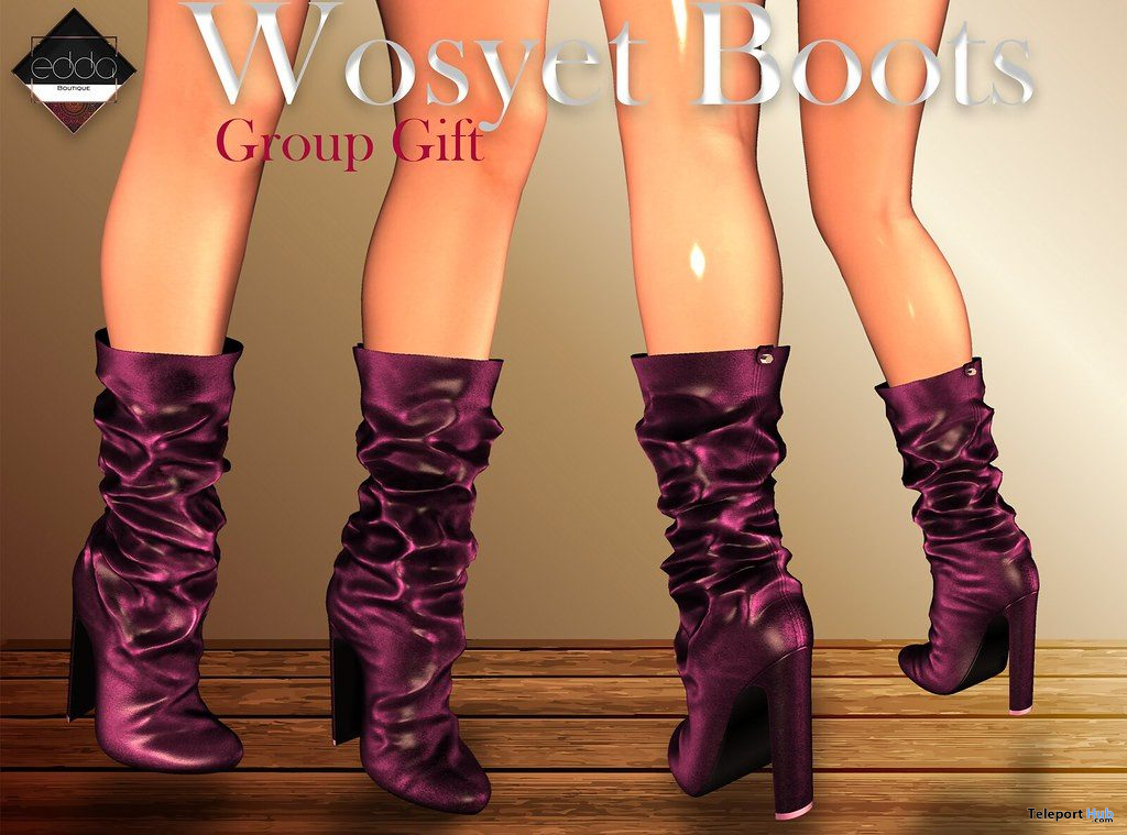 Wosyet Boots October 2019 Group Gift by E.D.D.A Boutique- Teleport Hub - teleporthub.com