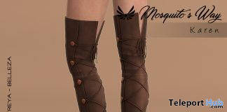 Karen Knee Boots October 2019 Group Gift by Mosquito's Way - Teleport Hub - teleporthub.com