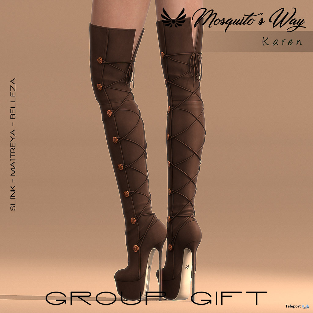 Karen Knee Boots October 2019 Group Gift by Mosquito's Way- Teleport Hub - teleporthub.com