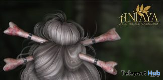 Bones Hairpin October 2019 Group Gift by ANTAYA - Teleport Hub - teleporthub.com