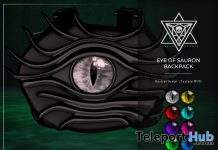 Eye of Sauron Backpack Fatpack The Dark Style Fair October 2019 Gift by Psycho Barbie - Teleport Hub - teleporthub.com