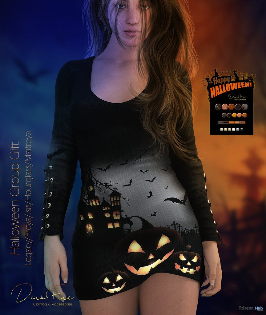 Halloween Dress October 2019 Group Gift by DarkFire - Teleport Hub - teleporthub.com