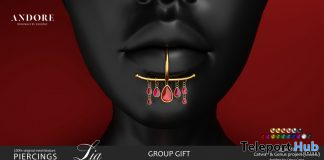 Lia Lip Piercings October 2019 Group Gift by ANDORE - Teleport Hub - teleporthub.com