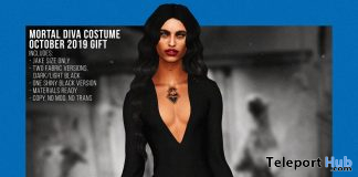 Morticia Halloween Dress For Men October 2019 Group Gift by BOYS TO THE BONE - Teleport Hub - teleporthub.com