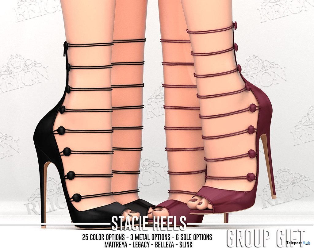 Stacie Heels October 2019 Group Gift by REIGN- Teleport Hub - teleporthub.com