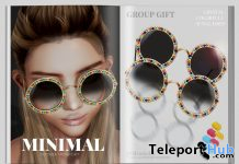 Crystal Colorful Sunglasses October 2019 Group Gift by MINIMAL- Teleport Hub - teleporthub.com