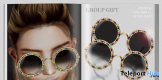 Crystal Colorful Sunglasses October 2019 Group Gift by MINIMAL - Teleport Hub - teleporthub.com