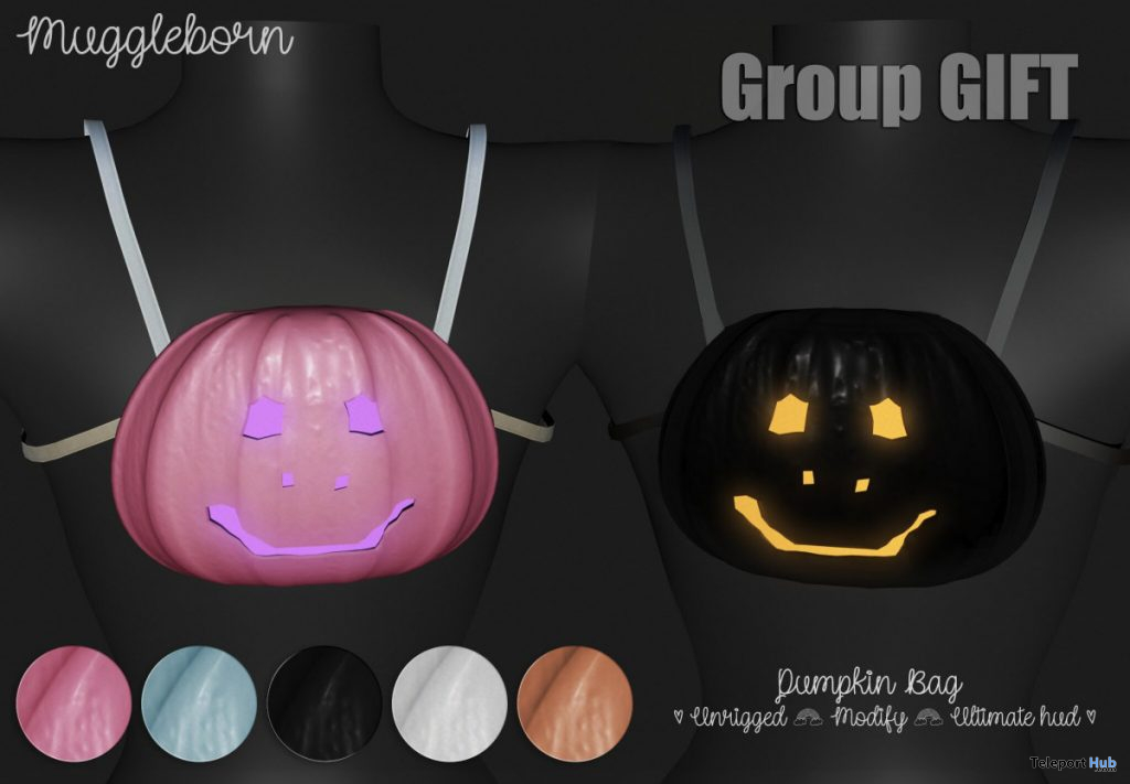 Pumpkin Bag October 2019 Group Gift by Muggleborn - Teleport Hub - teleporthub.com