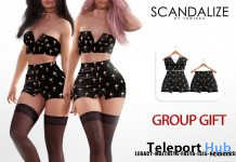 Halloween Outfit Black October 2019 Group Gift by SCANDALIZE- Teleport Hub - teleporthub.com