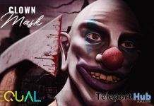 Clown Mask October 2019 Group Gift by EQUAL- Teleport Hub - teleporthub.com