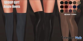 Angie Boots October 2019 Group Gift by Hilly Haalan- Teleport Hub - teleporthub.com