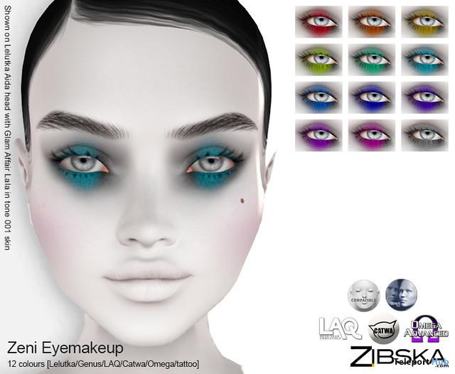 Zeni Eye Makeup October 2019 Gift by Zibska- Teleport Hub - teleporthub.com