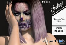 Mermaid Face Paint October 2019 Group Gift by Speakeasy - Teleport Hub - teleporthub.com